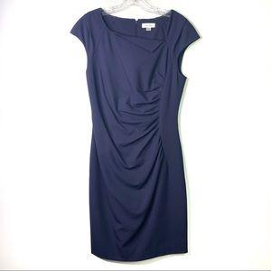 Calvin Klein Navy Ruched Front Dress 8 C-82